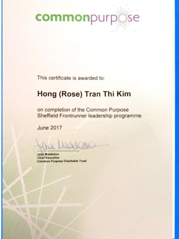 Common Purpose Leadership Certificate
